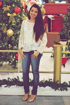 Suene Fernandes: Looks de Suene: Luzes. Guipir + Jeans! 🌻