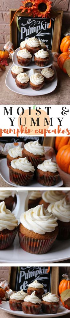 This made from scratch pumpkin cupcake recipe is moist, fluffy and melts in your mouth.