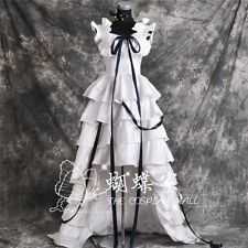 Anime Chobits Chi LOLITA White Ball Gown Evening Dress Cosplay Costume
