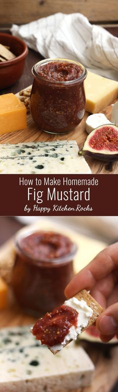 Easy and delicious gourmet fig mustard video recipe ready in just 30 minutes. Great sweet and spicy addition to your cheese plate!