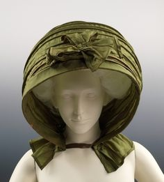 Calash, 1790.  The calash style was designed in the late 18th century to allow women to wear a fashionable headdress without damaging their coiffure.
