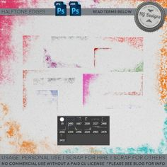 Free download ~ halftone edge Photoshop brushes