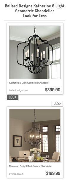 Katherine 6-Light Geometric Chandelier vs Moroccan 6-Light Dark Bronze Chandelier
