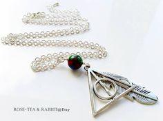 Deathly Hallows Pendant Necklace  Silver by RoseTeaAndRabbit https://www.etsy.com/uk/listing/274137486/deathly-hallows-pendant-necklace-silver?ref=shop_home_active_1