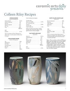 Layering Techniques for Sumptuous Surfaces with Colleen Riley - Ceramic Arts Network Slab Pottery, Glazes For Pottery, Pottery Vase, Ceramic Pottery, Ceramic Glaze Recipes, Glazed Ceramic, Japanese Ceramics, Japanese Pottery, Ceramic Arts Daily