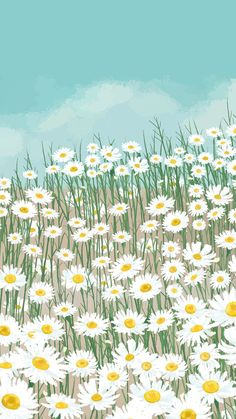 Download premium vector of Blooming white daisy flower mobile phone