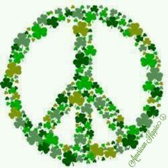 ☮ American Hippie Art ☮ Peace Sign .. St. Patrick's Day