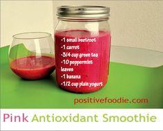 Pink antioxidant smoothie