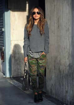 Swap camo pants with a solid color