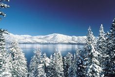 Lake Tahoe in winter. This is one of the most beautiful places on earth...truly