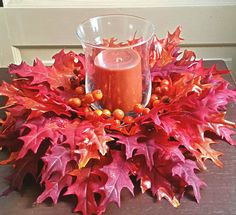 fall hurricane vase centerpieces,fall decor, autumn decor, fall centerpieces,thanksgiving decoration by Omyhandcraftedstore on Etsy
