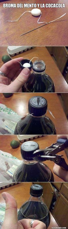 Imágenes Graciosas Humor grafico divertido: Broma pesada con una Cocacola