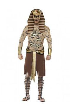 Disfraz de faraón egipcio zombie para hombre