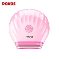 POVOS Dame Rasieren Bikini Köpfe Wasserdichte MiNi Elektrische Rasierapparate Sommer Rosa Rasieren Epilierer USB Plus PS1016