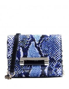 Micro Mini Python Print Shoulder Bag