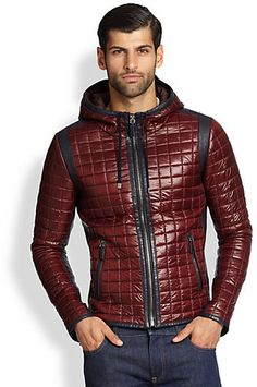 Men's Leather Jackets: How To Choose The One For You. A leather coat is a must for each guy's closet and is likewise an excellent method to express his individual design. Leather jackets never head out of styl Fashion In, Best Mens Fashion, Spring Jackets, Winter Jackets, Mens Designer Coats, Winter Outfits Men, Guy Outfits, Mens Winter Coat, Elegant Man