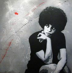 Peinture Angela Davis, Par   Jef Aérosol