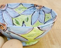 Majolica Pottery Clay Earthenware Serving by ClayLickCreekPottery, $45.00
