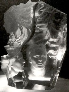 Appassionata Acrylic Sculpture 2000 by Frederick Hart - Clear Acrylic Resin
