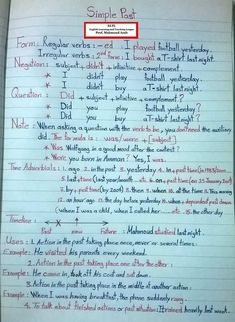 What are the basics of English grammar? English Grammar Notes, Teaching English Grammar, English Grammar Worksheets, English Verbs, Grammar And Vocabulary, English Vocabulary Words, Grammar Lessons, English Language Learning, Learn English Words