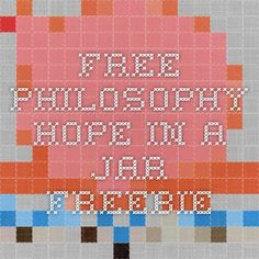 Free Philosophy Hope in a Jar Freebie