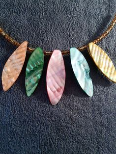 Shell Multicolore Choker via ELANNABIJOUX. Click on the image to see more!