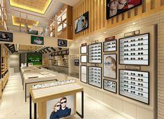 Eyewear store display ideas #spectaclestoredesign #conceptdesign #glasses #opticalstore #retaildesign #displaycabinet #shopdisplays Eyewear Shop, Optical Shop, Sunglasses Store, Hospital Design, Clinic Design, Showroom Design, Store Displays, Display Ideas, Display Design