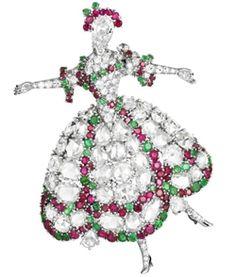Signature Van Cleef Arpels Ballerina Brooch