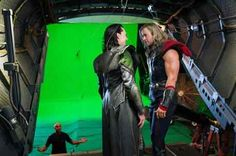He is not fond of what follows thunder...GREEN SCREEN!