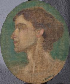 Portrait of Ioulia Partheni, 1909-1911  Konstantinos Parthenis