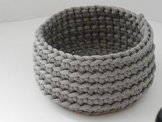 Crochet rope box/knitted basket/toiletries/housewarming gift/color rope basket/handmade basket