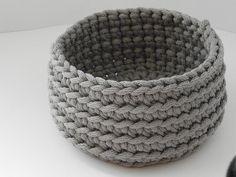 Crochet rope box/knitted basket/toiletries/housewarming gift/color rope basket/handmade basket