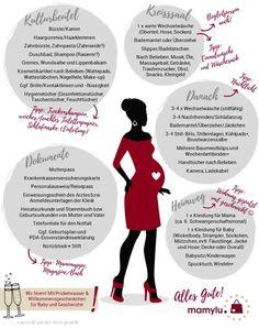 Kliniktasche Checkliste Baby: Kliniktaschen zur Geburt