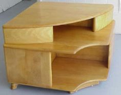 Heywood Wakefield C3540 side table, Mid-Century, corner table, unique table, modern
