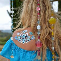 Flashtats by Iamu Collective. The blue is just so amazing!