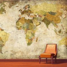World Map is ideal for the wanderlust-stricken traveler to come home to. This wall mural can be attached directly to the walls, smooth wallpaper surfaces, wooden surfaces, window surfaces, screens, glasses, plastic surfaces and mirrors — anywhere you want a window to a whole new world. Its innovative adhesive glue is removable, making it incredibly convenient for renters and redecorating.