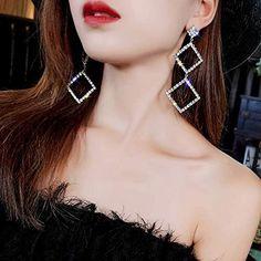 Bridal Bangles, Bridal Earrings, Crystal Earrings, Rhinestone Earrings, Fashion Earrings, Women's Earrings, Bridal Jewelry, Fashion Jewelry, Silver Earrings