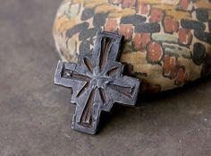 Gothic Cross Aged Distressed Pendant Handmade by Inviciti on Etsy #handmade #artisan #Minnesota #etsy #jewelry #supply #supplies