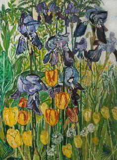 Irises and Tulips, 1967 - John Bratby