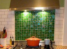 Green mosaic kitchen backsplash ideas