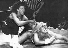 WCW and ECW star Missy Hyatt vs Dark Journey http://womensprowrestling.blogspot.com/2007/09/missy-hyatt-part-2.html