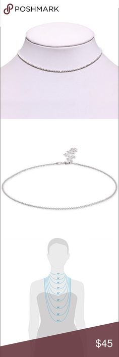 """**Giani Bernini ❣️ Chain Choker 12""""+ 4"""" Extender** Whether heading to the club or a cotillion, you'll look equally stylish in this versatile sparkle chain choker necklace designed by Giani Bernini in sterling silver. Spring ring clasp. Approximate length: 12"""" x 4"""" extender. No longer available. Giani Bernini Jewelry Necklaces"""