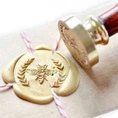 French Bee stamp for wax seals from One Kings Lane