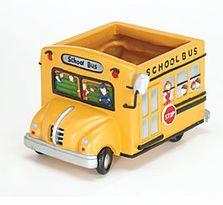 School Bus Planter - teacher Retirement Gift ideas for teachers Bus Driver Gifts, School Bus Driver, School Buses, Teacher Retirement Gifts, Best Teacher Gifts, Retirement Ideas, Bus Driver Appreciation, Bus Crafts, Wheels On The Bus
