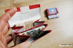Schauen Sie mal, wie einfach und schnell kann man eine tolle Geldtasche aus Milchverpackung selber basteln. Es geht ganz einfach und schnell. Card Holder, Cards, Craft Tutorials, Money, Amazing, Repurpose, Creative, Bags, Rolodex