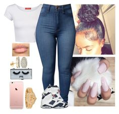 """""""//"""" by melaninmonroee ❤ liked on Polyvore featuring Influence, Retrò, Rolex and POPbeauty"""