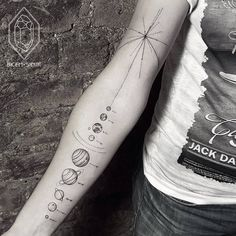 Solar System Tattoo by Bicem Sinik