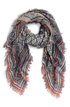 Betsey Johnson 'Animal Party' Square Scarf available at #Nordstrom