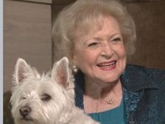Betty White and her Westie!