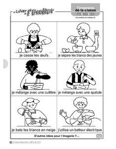 Imagerie les actions en cuisine 1 ecole maternelle - Cuisine action catalogue ...